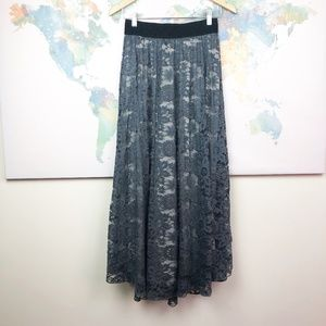 Lularoe Lucy Floral Lace Maxi Skirt Size XS